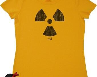 Funny science geek gift for girls women science students teachers radiation rad radical geekery clothing geek t shirt