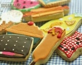 Summer Picnic Decorated Sugar Cookie Set
