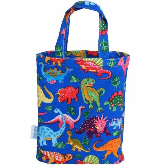 Dinosaur Gift Bag Dinosaur Party Bag Fabric
