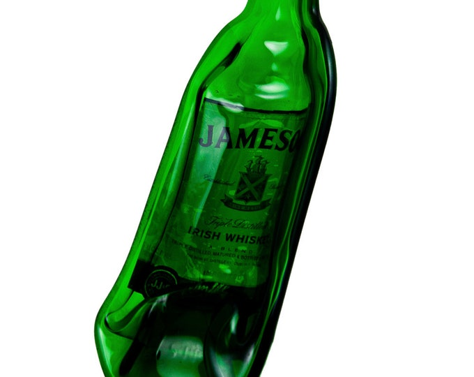 Jameson Irish Whiskey Bottle Melted into a Dish with an ARCH NECK