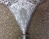 vintage silver plated vase