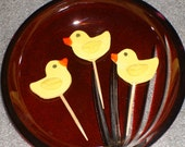 Two Dozen Gum Paste Rubber Duck Cupcake Toppers