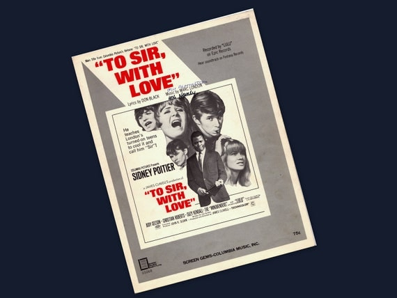 60s movie hipness: 1967 To Sir, With Love sheet music