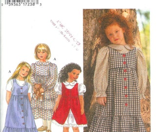 Simplicity 9780  Girl's Dress & Jumper Size 3, 4, 5, 6 UNCUT