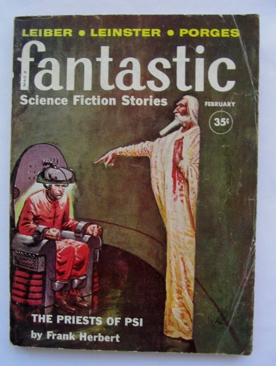 Fantastic, Vintage Science Fiction Magazine, February 1960, Ziff-Davis Publishing