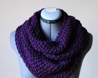Infinity Scarf- In EGGPLANT