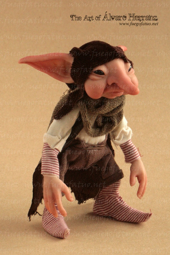 House brownie - OOAK art doll brownie pixie goblin fantasy creature