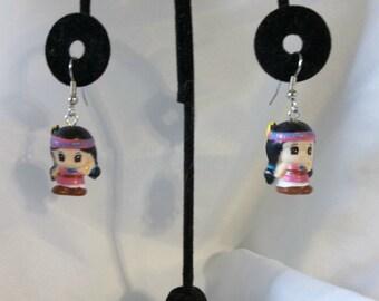 Cute Native American Girl Earrings