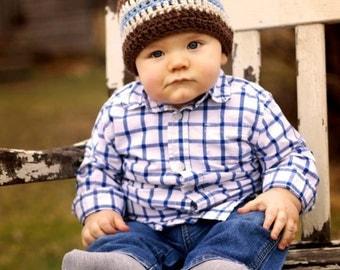 boys hat, crochet boys hat, baby hat, crochet hat for boys, little boy hat