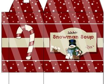 DIY Snowman Soup Digital Box Image PR004