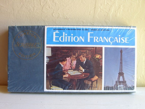 Unopened Vintage Foreign Language French Scrabble Game Francaise Complete