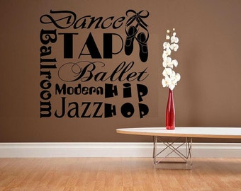 wall decal kids Subway style Dance decal kids decor nursery decal sport decal girl decal home decor decal for girl wall decal living room