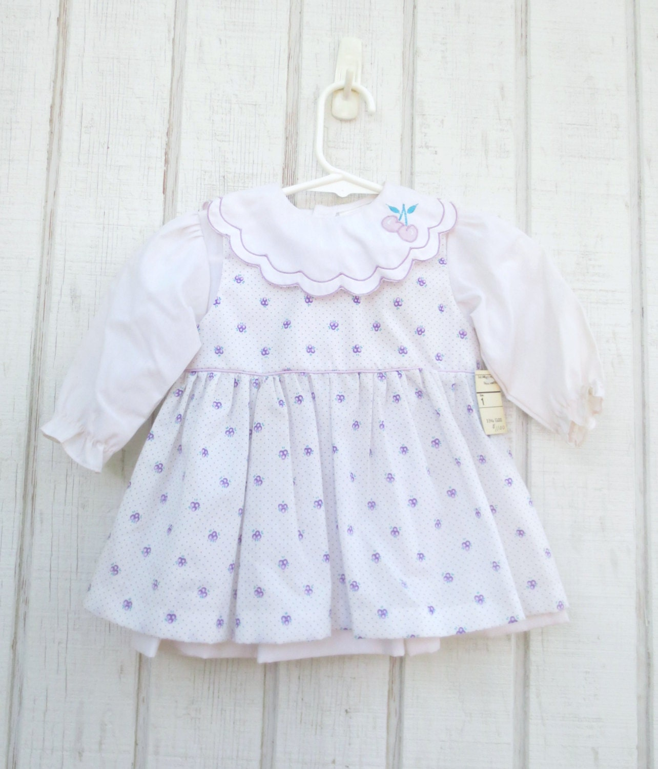 Vintage Baby Clothes Purple Infant Girl Dress