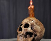 Skull Candle Lamp for Goths Pagans Wiccans and Witches