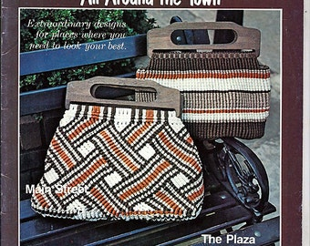 Macrame Purses All Around the Town Macrame Pattern Book 7290