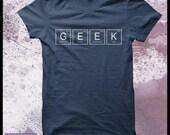 Geek tshirt Men's - Periodic table, geek elements