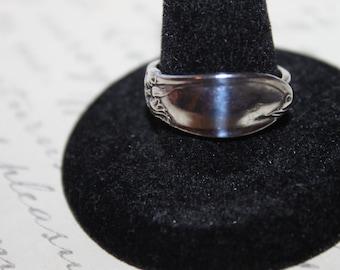 Vintage Sterling Spoon Ring, sz 9