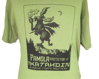 Pamola : Maine Mystery Cryptid Shirt Horror-Moose!