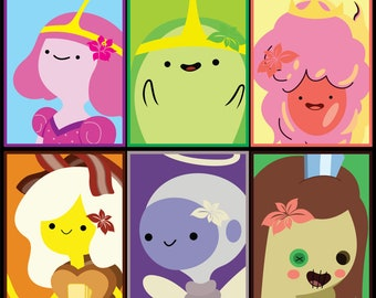 Princesses of Adventure Time Stickers 12pk