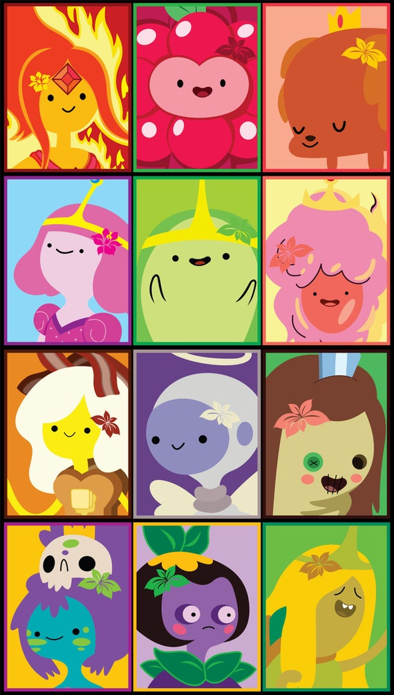 Princesses of Adventure Time Stickers 12pk