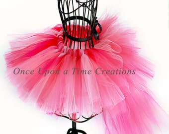 Flamingo Bustle Tutu - All Sizes - Baby Girl 6 12 Months 2T 3T 4T 5T 6 7 8 10 12 Adult - Halloween Costume, Photo Prop - Pretty Pink Bird