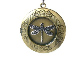 Gardener Jewelry, Gift Ideas for Gardeners, Dragonfly Necklace, Garden Gifts for Women Anniversary Gifts for Wife Birthday Ideas, Locket Mom