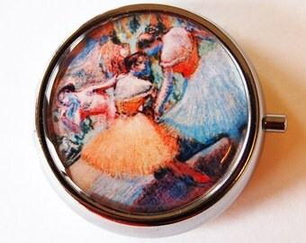Degas, Ballerina, Pill Box, Pill Case, Pill Container, Pink, Mint Container, Candy Container, French Painting (1786)