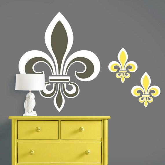 Items Similar To Fleur De Lis Wall Decal Wall Art
