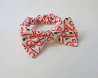 Holiday Christmas Candy Cane Bow Tie Collar For Your Dog - Great Gift or Stocking Stuffer