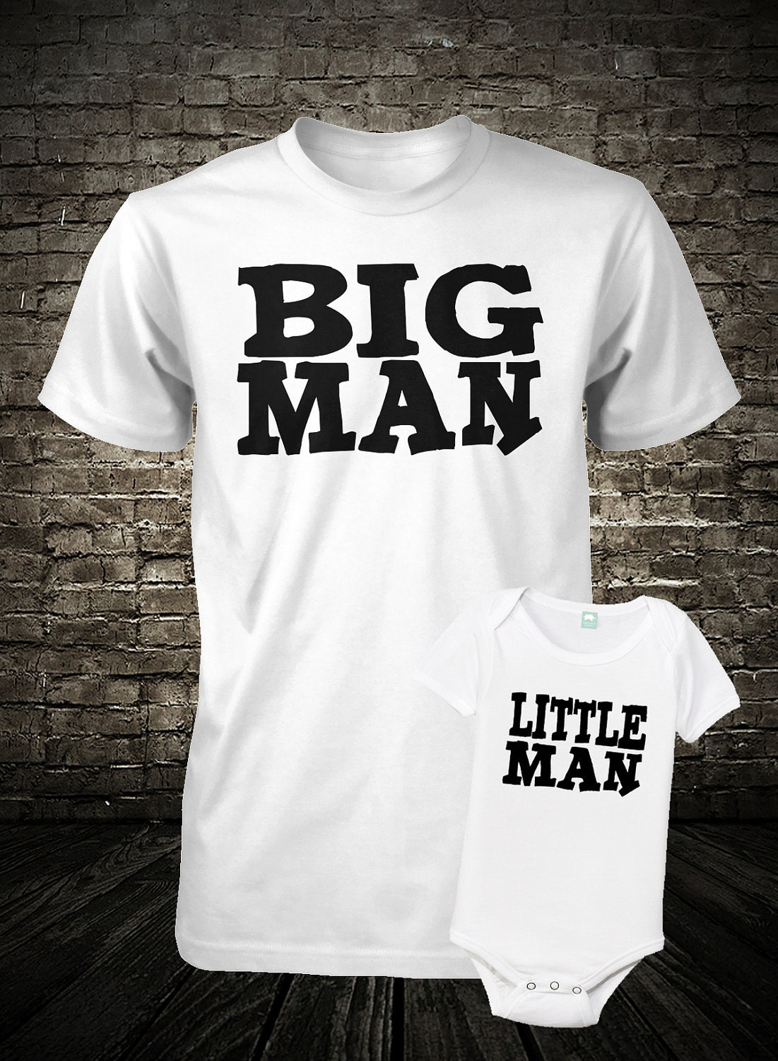 father and son shirt set big man little man boys kids tee. Black Bedroom Furniture Sets. Home Design Ideas