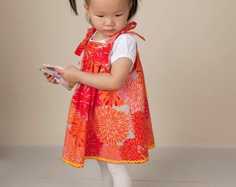 Brooklyn Toddler Dress - Fall Little Girls Dress - Toddler Clothing Pattern - Knot Dress - Autumn Dress Pattern - Tea Party - 12M to 5T