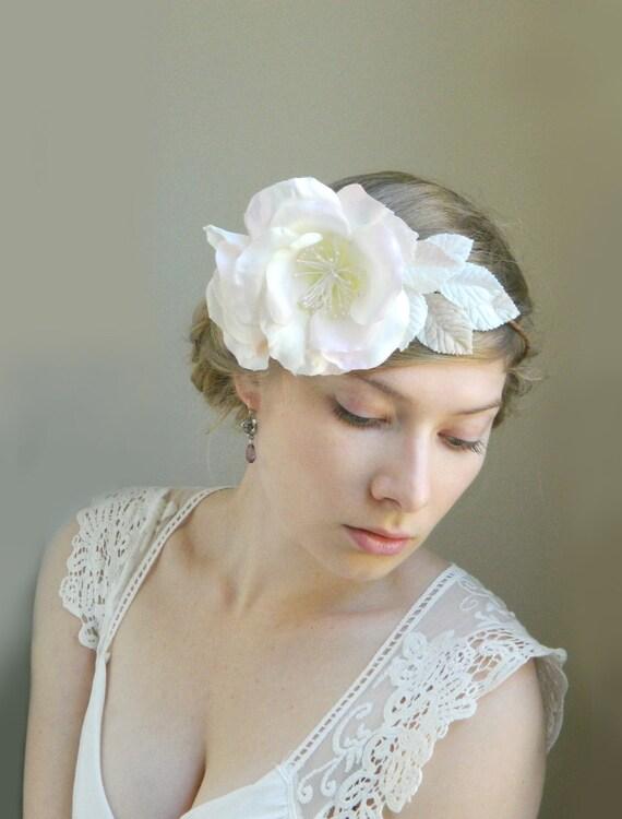 Light Pink 'Delia' Silk Wedding Flower Hair Piece - Blush Wedding - Vintage Garden Bride Bridal