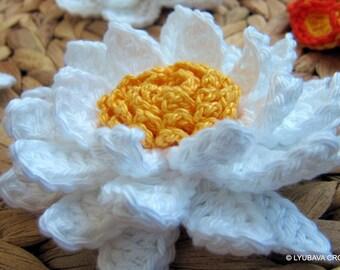 Crochet Flower PATTERN-Lily Flower-Daisy Flower-DIY-3d Flowers-Easy Crochet Flowers-Instant Download PDF Pattern No.95 by Lyubava Crochet