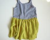 grey/chart. linen dress