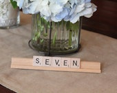 Scrabble Wedding Table Numbers set of 10