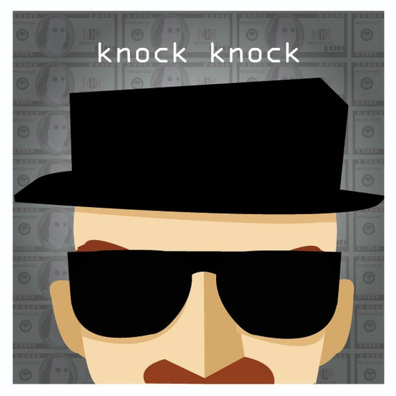 Walter White as Heisenberg Knock Knock Original Artwork