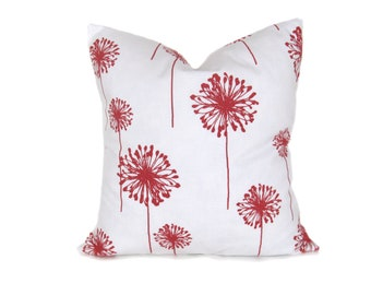 CORAL PILLOW Decorative Throw Pillow Covers Dandelion 18x18 Throw Pillow Covers Cushion covers 18 x 18 Home Decor Printed Fabric both sides