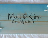 Guest Book Alternative Sign Board Malibu Blue/ Turquoise With Starfish