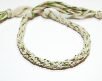 Eco Friendly Green Bracelet Kumihimo Organic Cotton Green Fiber Eco Jewelry