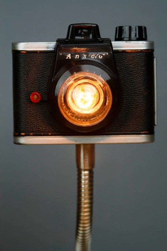 Upcycled Camera Lamp - Ansco Ready Flash