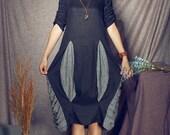 Black Dress/ Linen Dress/ Long dress/ Oversize Dress/ Kaftan Dress / Custom XS-XL,XXL, plus size women clothing. Tunic Dress, black sundress