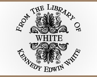 Ornate From the Library Of Stamp - Self Inking Personalized Bookplate Ex Libris
