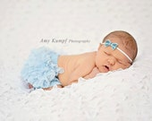Newborn Headband, Light Blue Baby Girl Headband