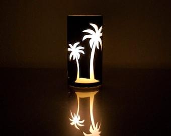 Ocean Scene (Negative) -1023- Metal Candle Holder Luminary