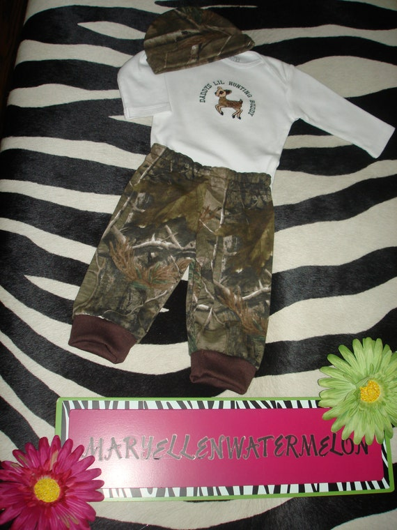 Baby Camo Outfits Hunting Real Tree AP Camo Deer Hunter Size 0-3 Month Infant Boy Long Sleeve