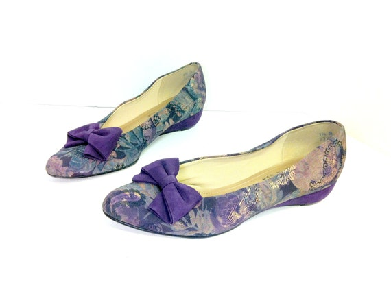 reserved 80s floral ballet flats with bow 9 by