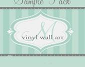 SAMPLE Oracal 631 Home Decor Vinyl Wall Swatch