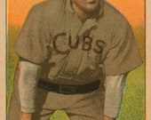 Tinker - Chicago Cubs - Baseball Card Print - 13.5 x 8 inch Print