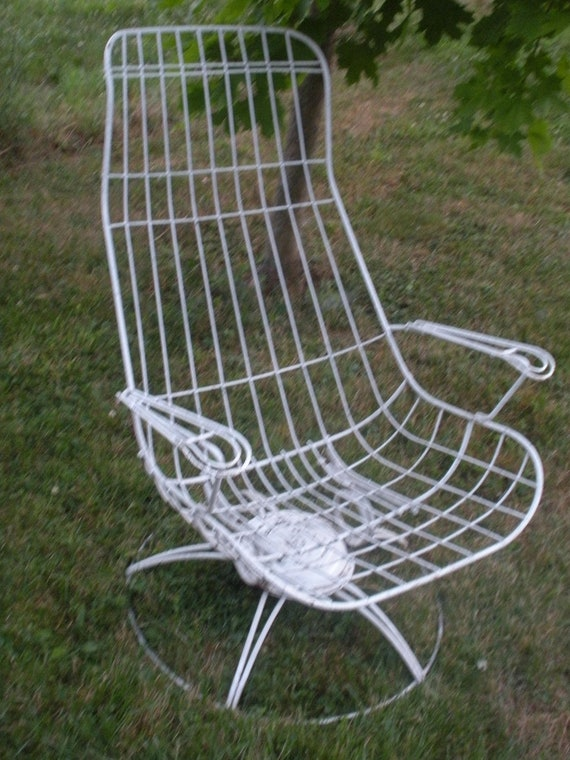 Ultra Mod Vintage Homecrest Wire Patio Garden Furniture Set