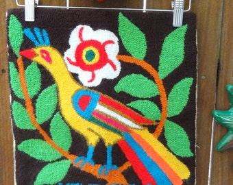 Vibrant Vintage Bird Wall Hanging/Tapestry